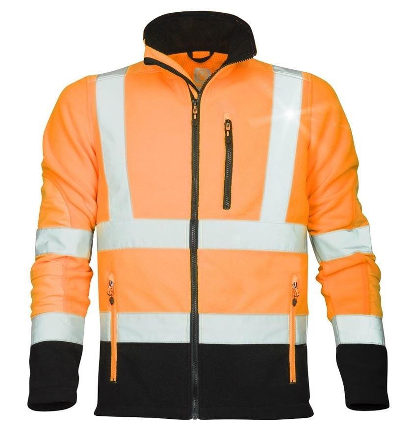 Ardon Reflexná fleecová mikina SIGNAL - Oranžová | S