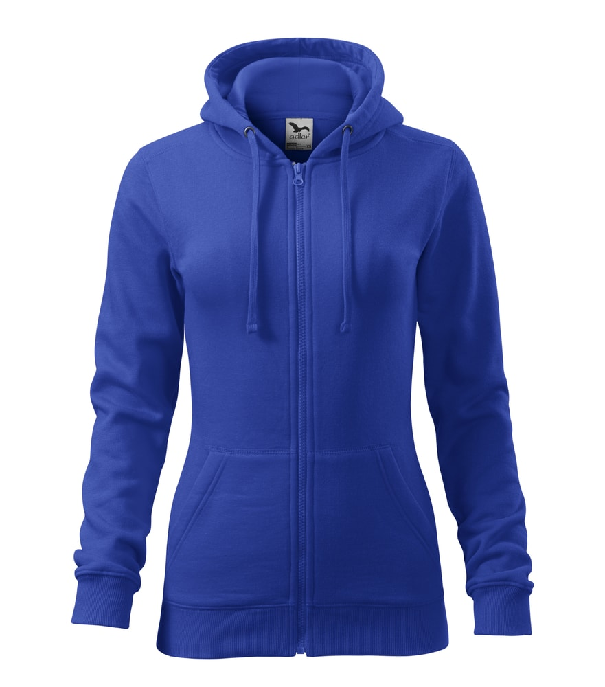 Dámská mikina Trendy Zipper - Královská modrá | XS