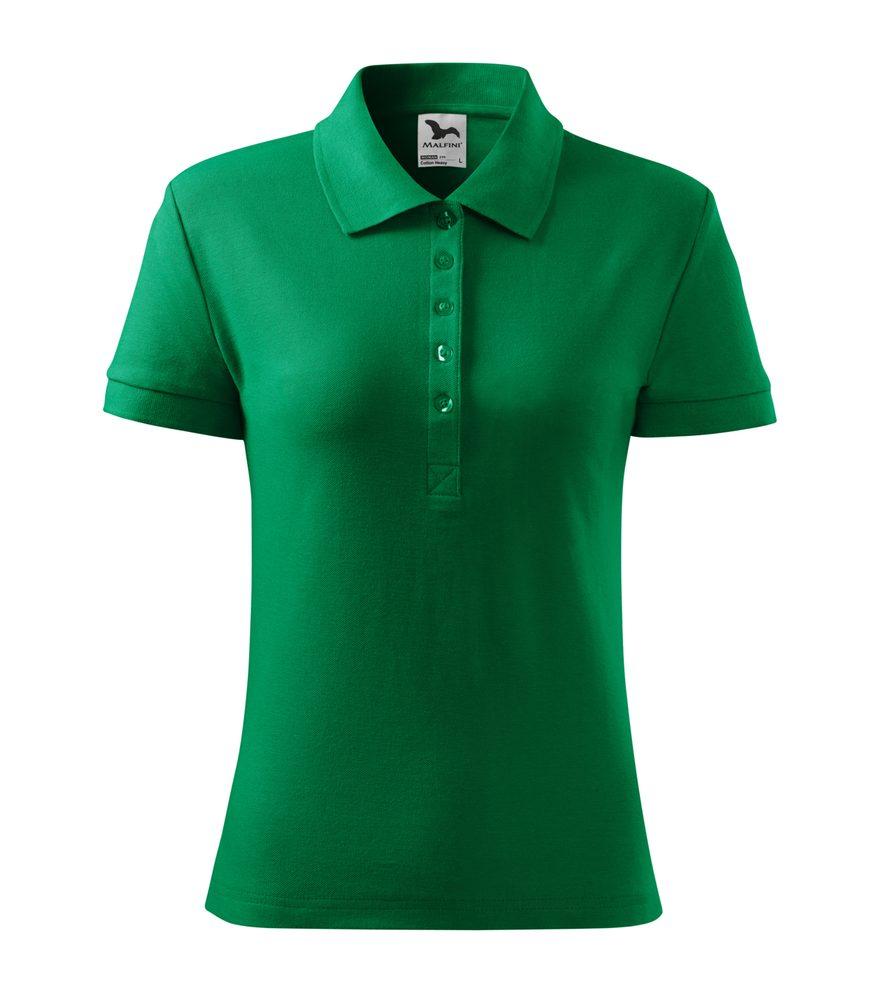 Adler Dámska polokošeľa Cotton Heavy - Středně zelená   L