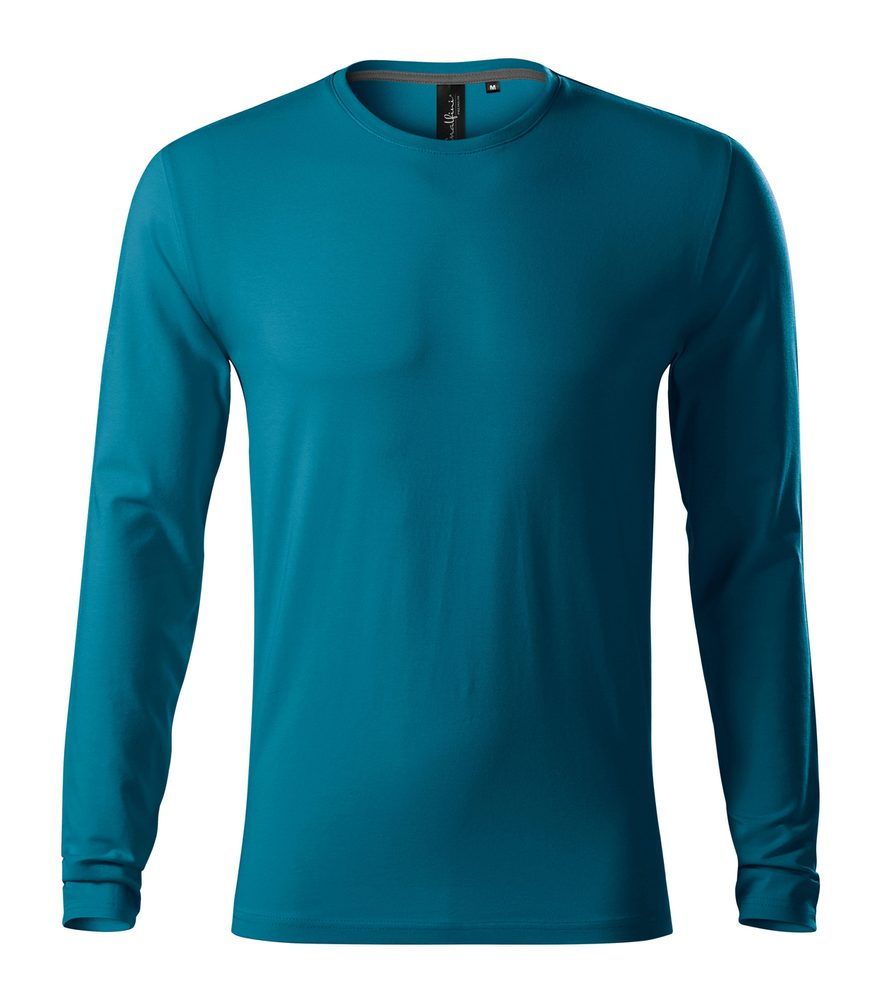Adler (MALFINI) Pánske tričko s dlhým rukávom Brave - Petrolejová | XL