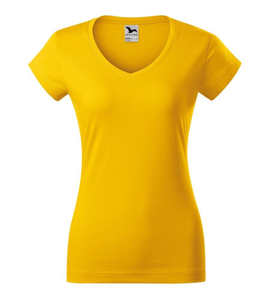 Adler Dámske tričko Fit V-neck - Žlutá | S