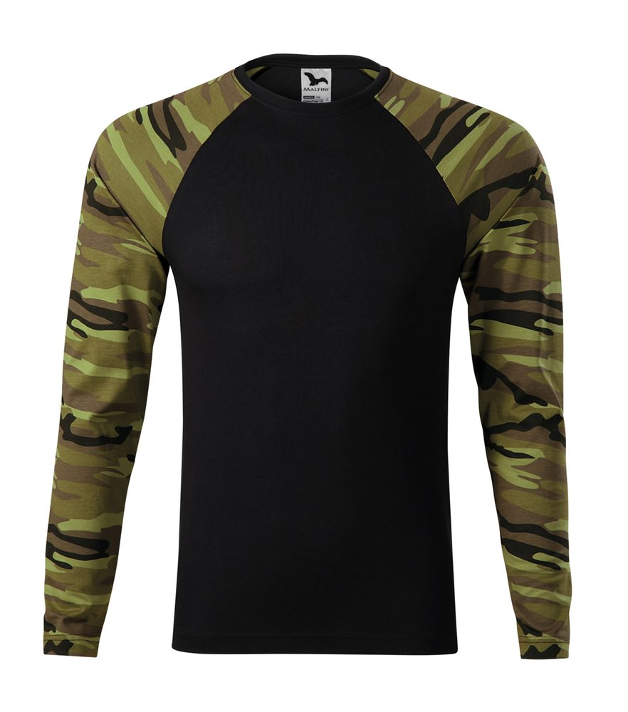 Adler Maskáčové tričko s dlhým rukávom Camouflage LS - Maskáčová zelená | XXXL