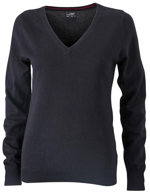 Dámský bavlněný svetr JN658 - Černá   L
