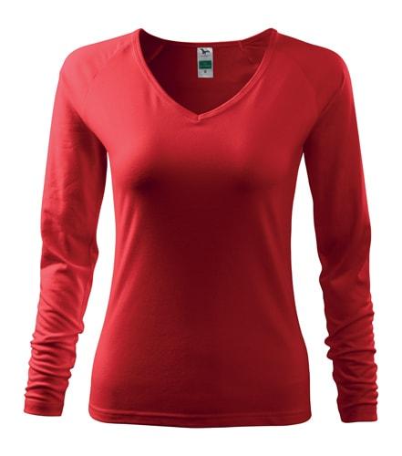 Adler Dámske tričko s dlhým rukávom Elegance - Červená | XXL