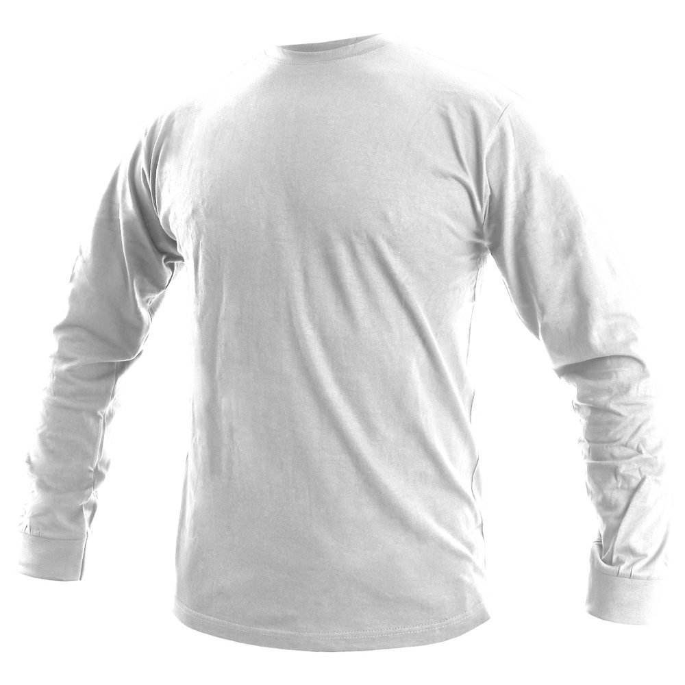 Canis Pánske tričko s dlhým rukávom PETR - Bílá | XL