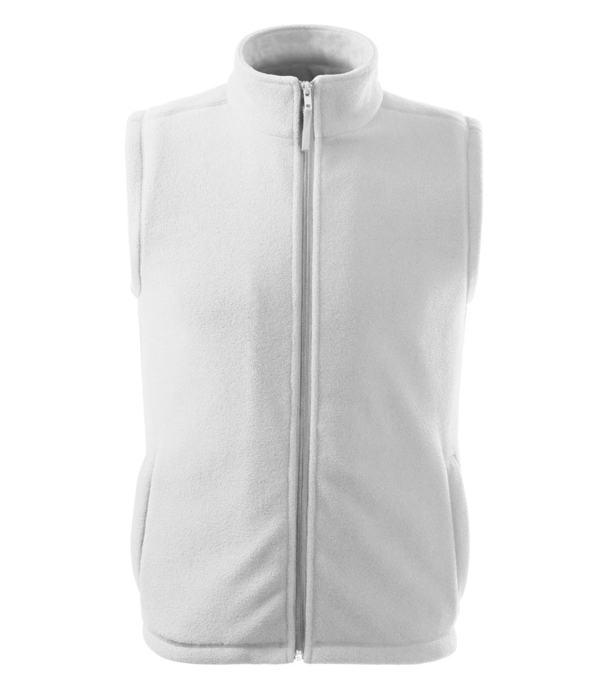 Adler (MALFINI) Fleecová vesta Next - Bílá | M