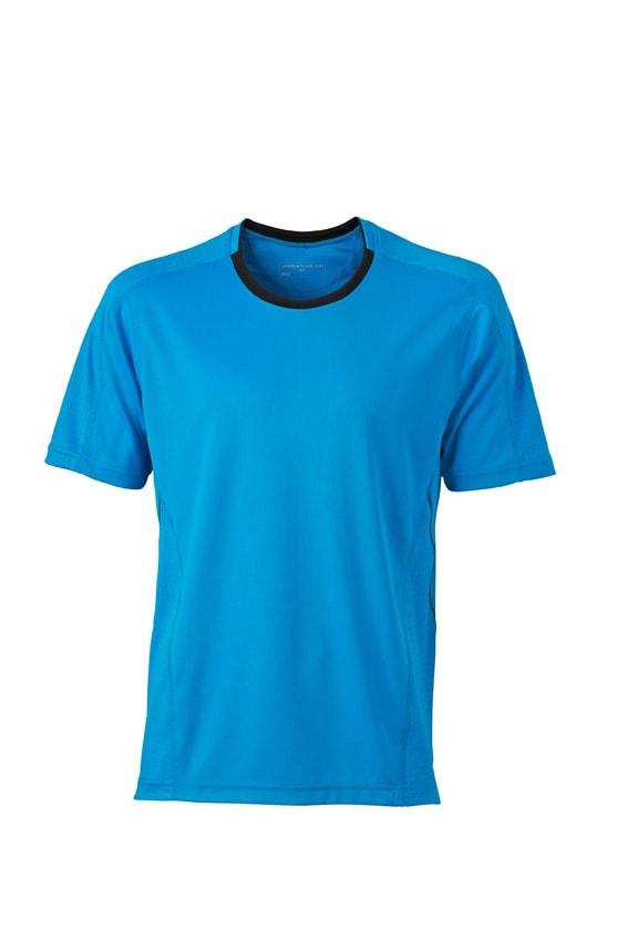 Pánské běžecké tričko JN472 - Atlantik / černá | S