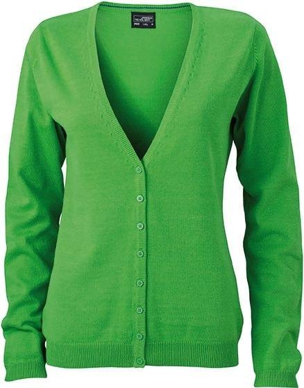 Dámský bavlněný svetr JN660 - Zelená | S