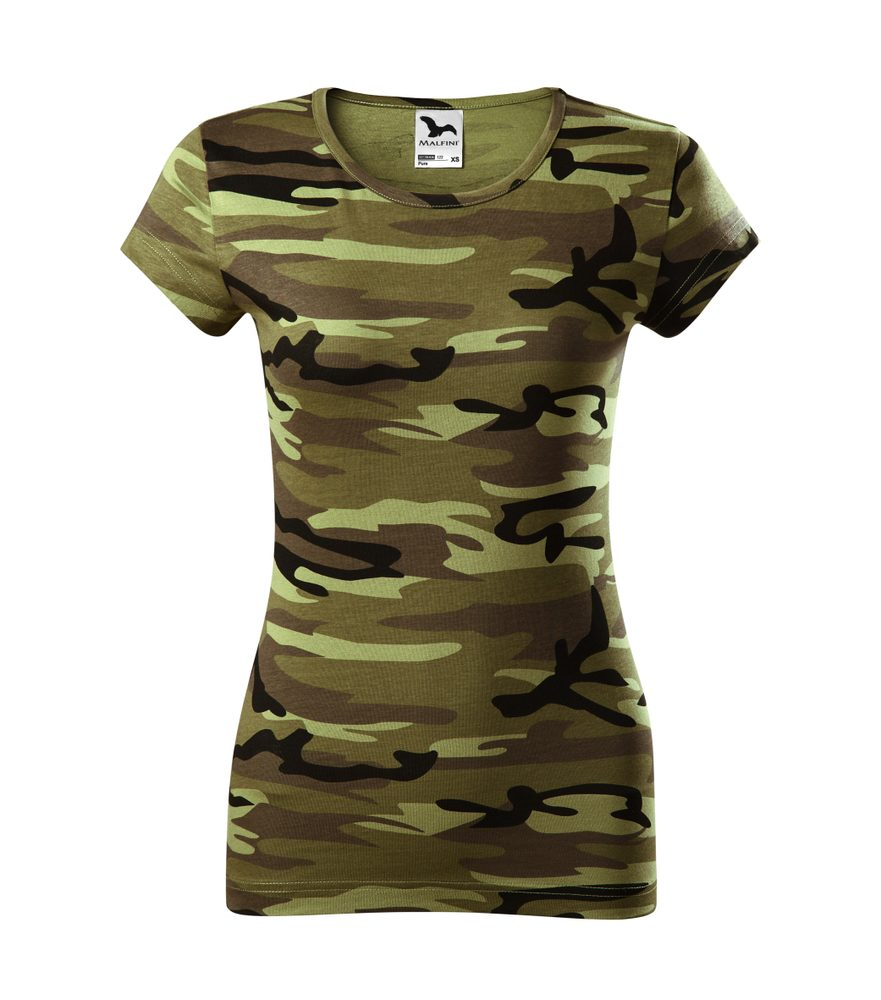 Adler Dámske tričko Camo Pure - Maskáčová zelená | S