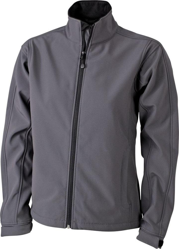 James & Nicholson Dámska softshellová bunda JN137 - Tmavě šedá | L