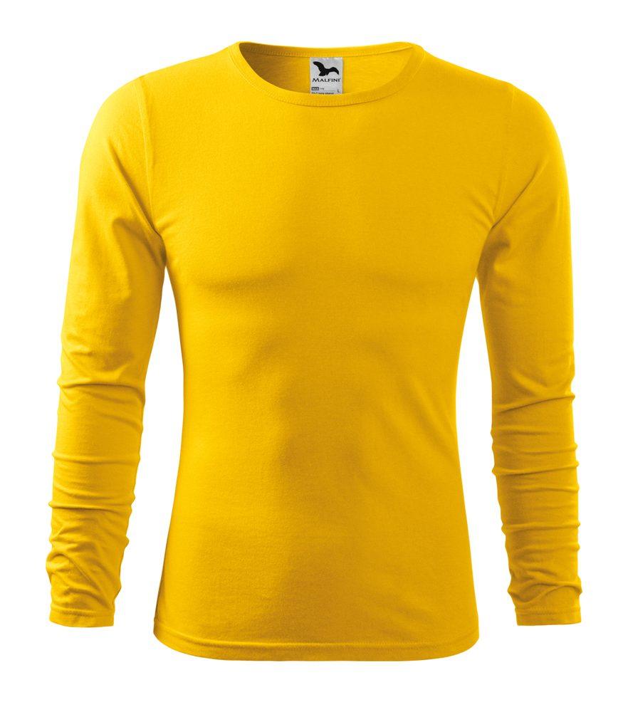 Adler Pánske tričko s dlhým rukávom Fit-T Long Sleeve - Žlutá | L