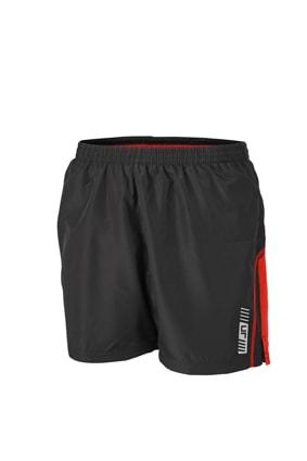 Pánské běžecké šortky JN488 - Černá / tomato | M