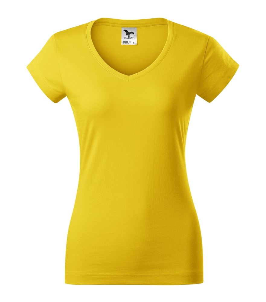 Adler Dámske tričko Fit V-neck - Žlutá | XXL