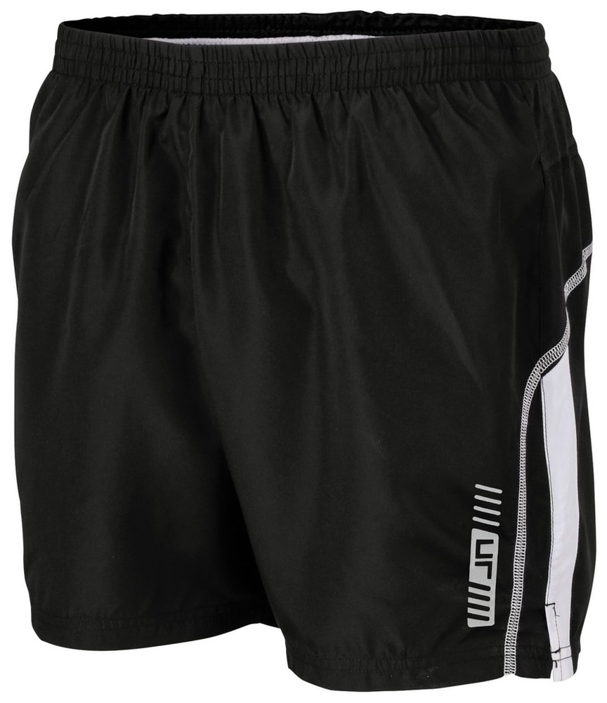 Pánské běžecké šortky JN488 - Černá / bílá | XXL