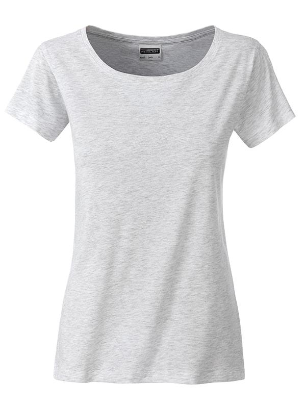 James & Nicholson Klasické dámske tričko z biobavlny 8007 - Popelavá | XL