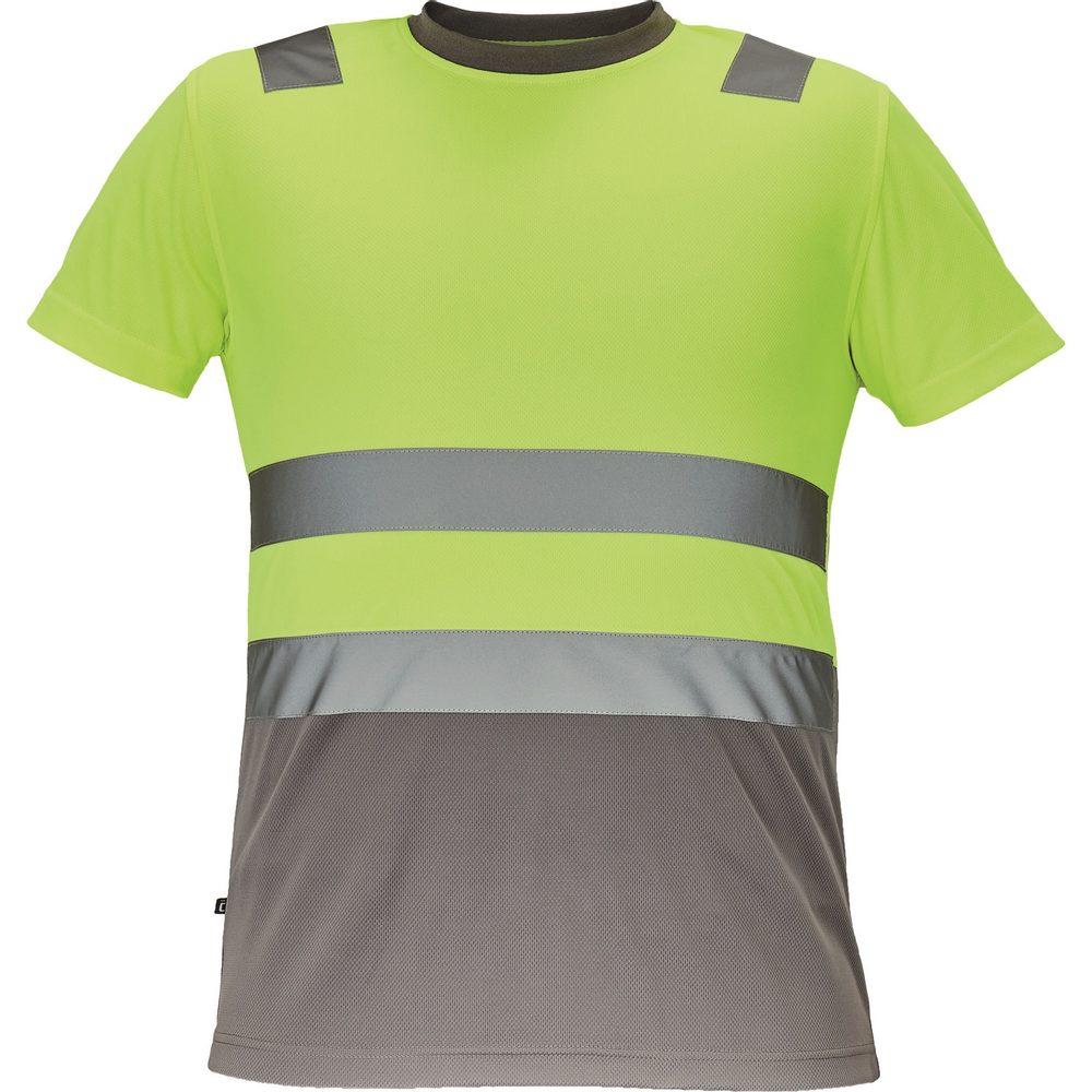 Cerva Pánske reflexné tričko MONZON - Žlutá / šedá | M