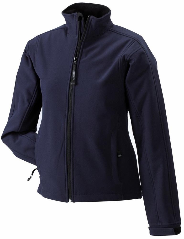 James & Nicholson Dámska softshellová bunda JN137 - Tmavě modrá | S