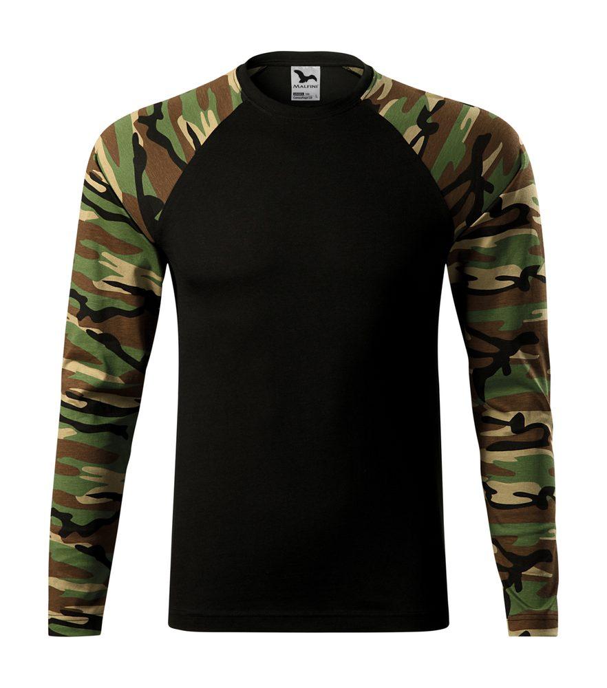 Adler Maskáčové tričko s dlhým rukávom Camouflage LS - Maskáčová hnědá | XXXL