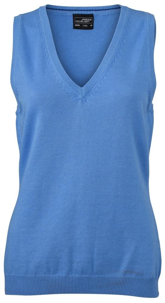 Dámský svetr bez rukávů JN656 - Ledově modrá | L