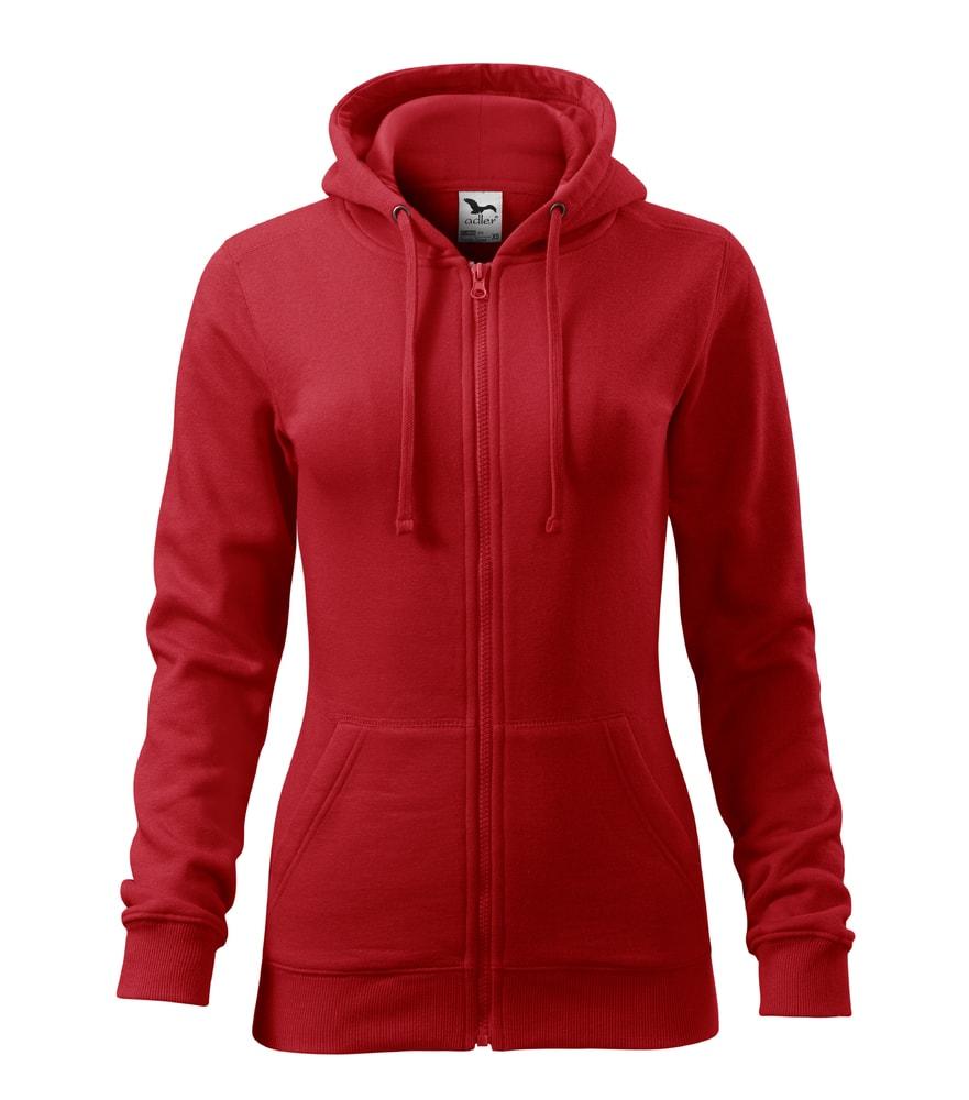 Adler Dámska mikina Trendy Zipper - Červená | S