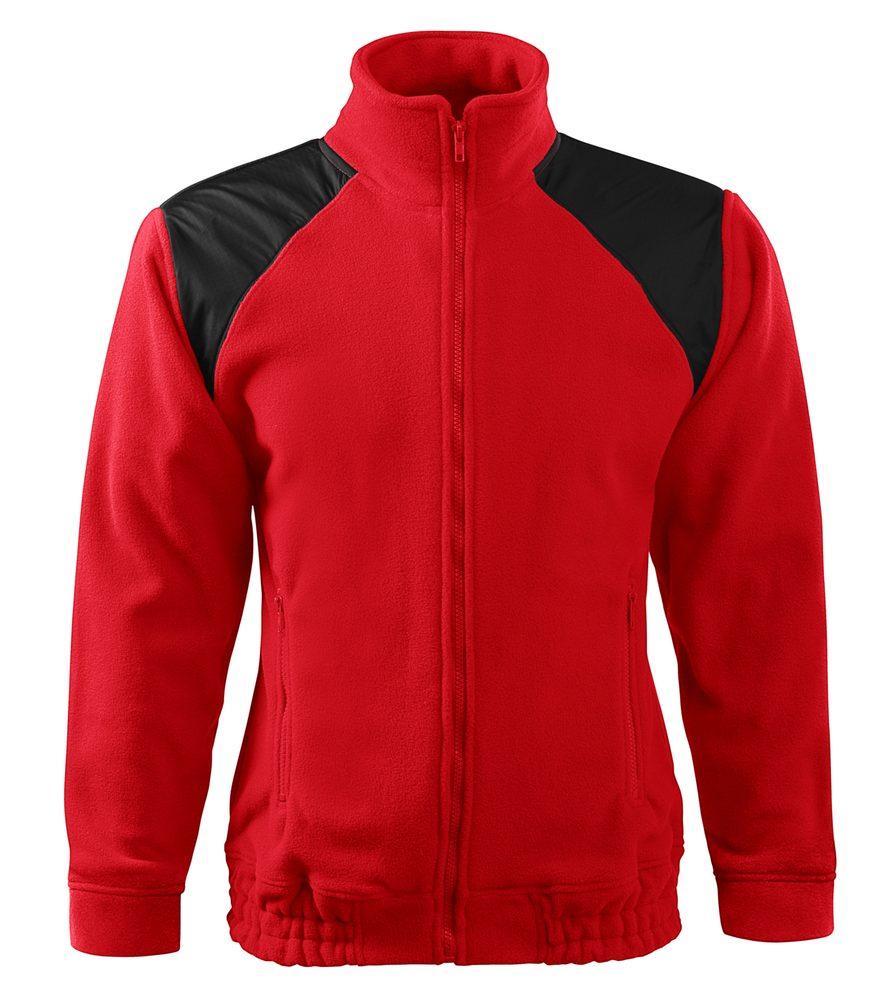 Adler (MALFINI) Fleecová mikina Jacket Hi-Q - Červená | XXXL