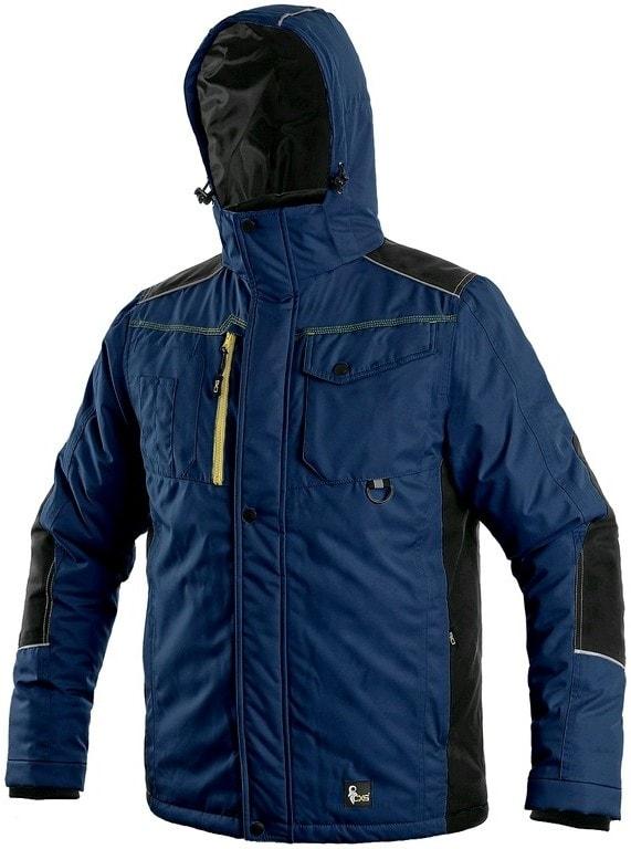 Canis Pánska zimná bunda CXS BALTIMORE - Tmavě modrá / černá | S