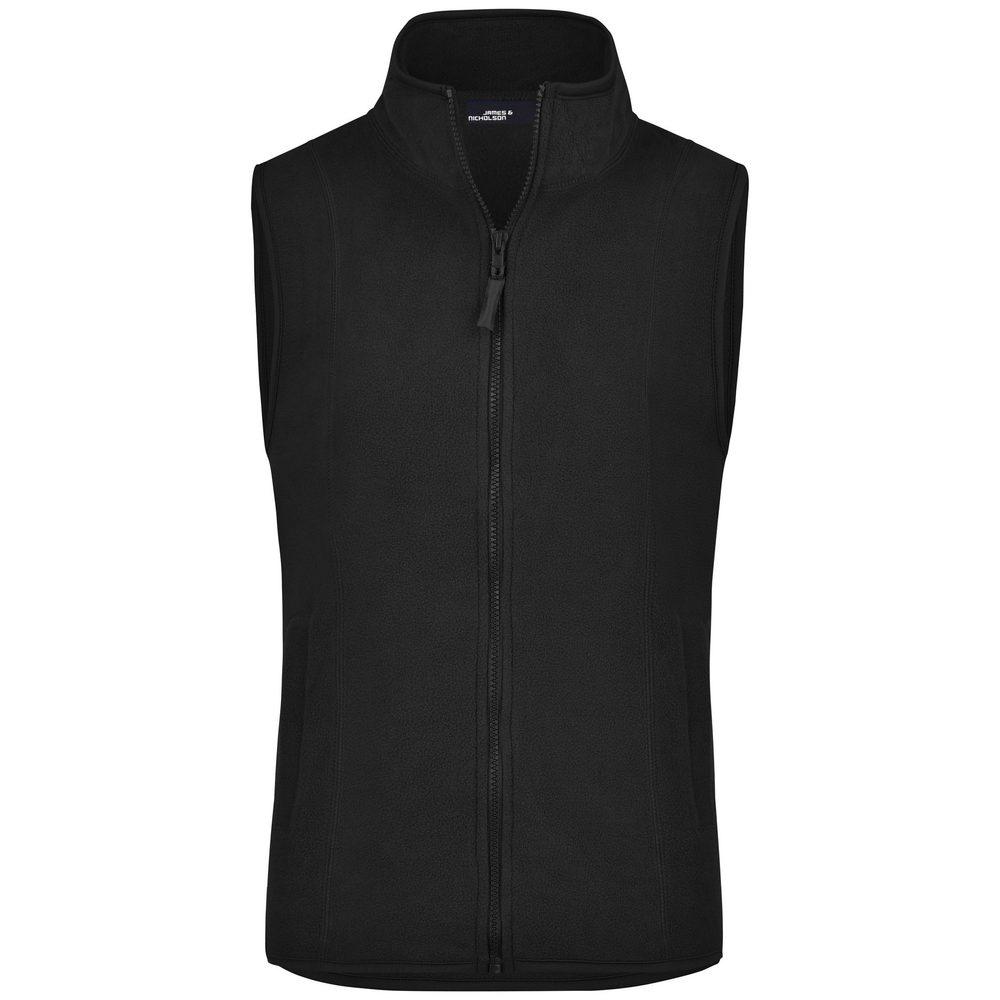 James & Nicholson Dámská fleecová vesta JN048 - Černá   XXL