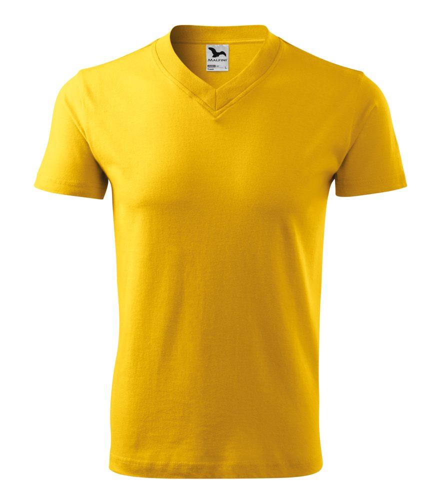 Adler Tričko V-neck - Žlutá | S