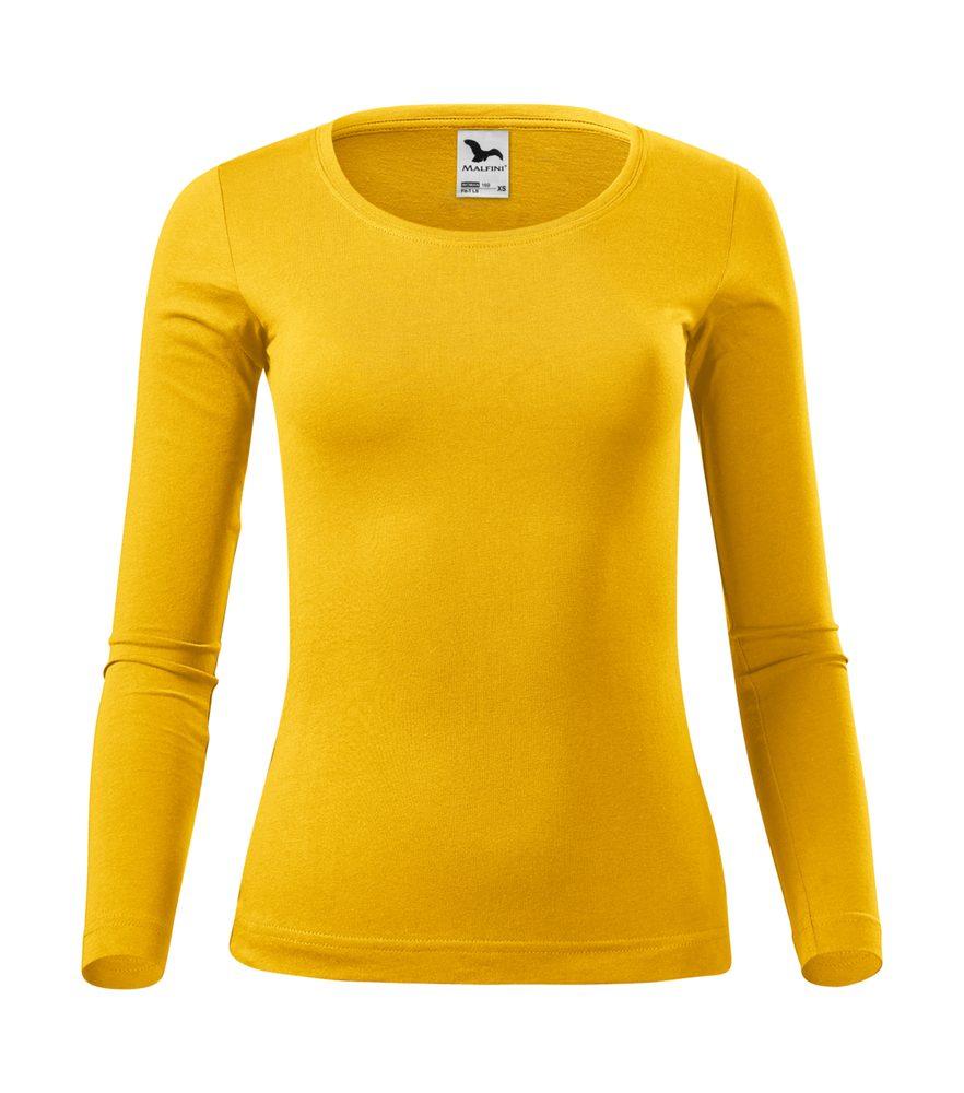 Adler Dámske tričko s dlhým rukávom Fit-T Long Sleeve - Žlutá | XXL