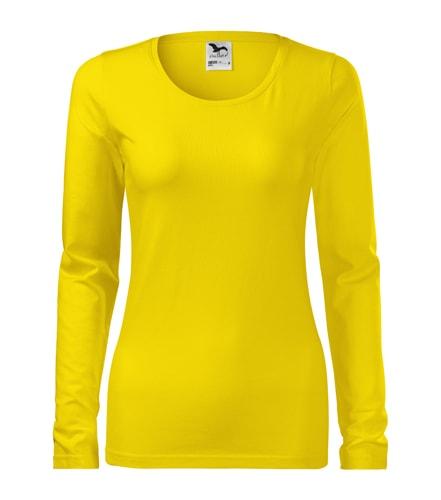 Adler Dámske tričko s dlhým rukávom Slim - Žlutá | L