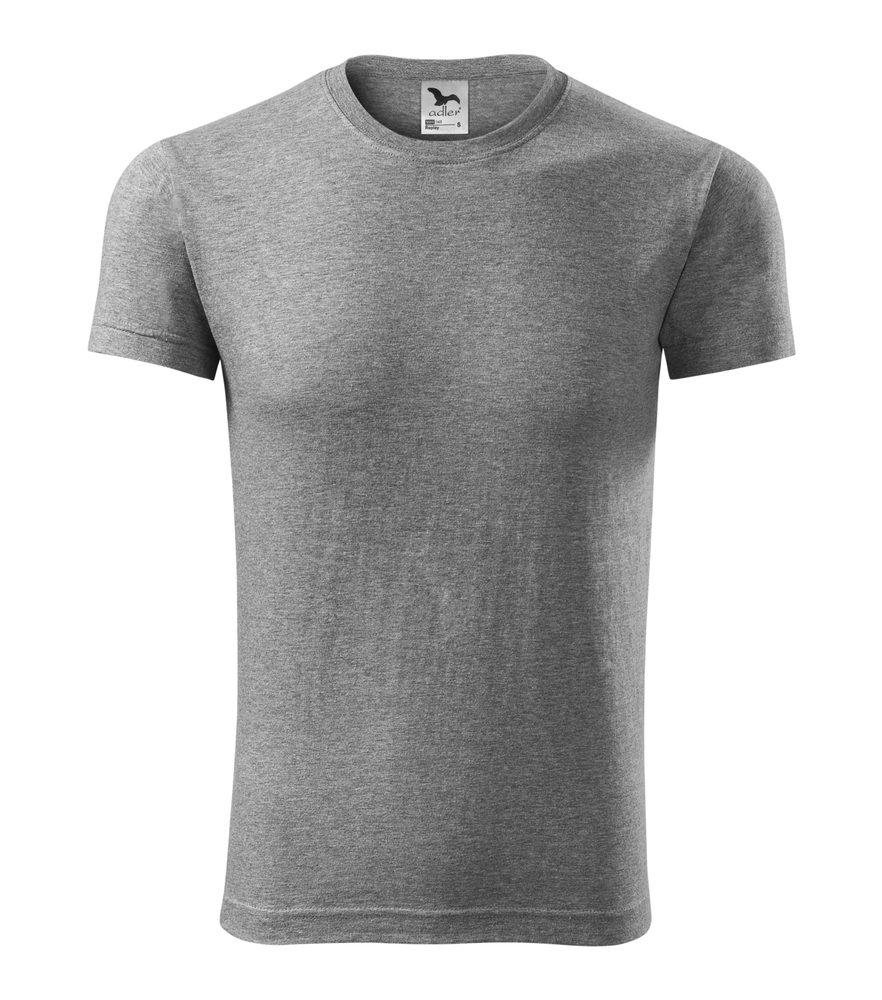 Adler Pánske tričko Replay/Viper - Tmavě šedý melír | M