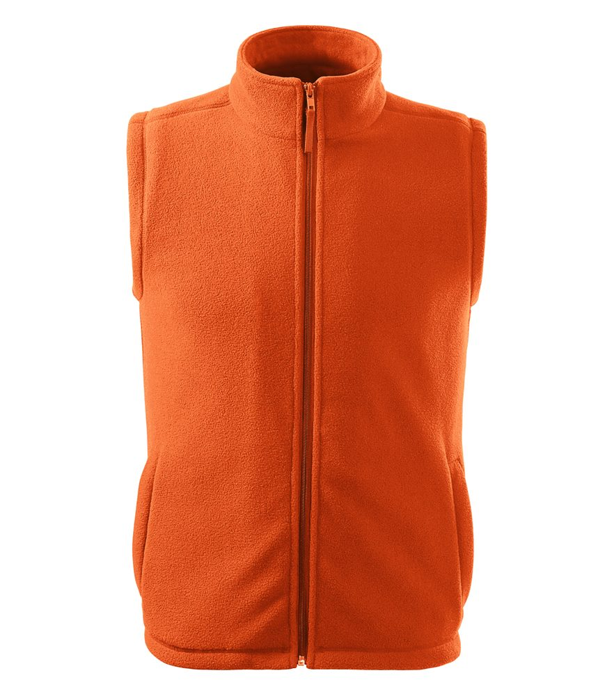 Adler (MALFINI) Fleecová vesta Next - Oranžová   XXL