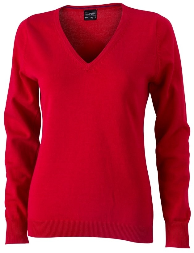 Dámský bavlněný svetr JN658 - Červená | XL