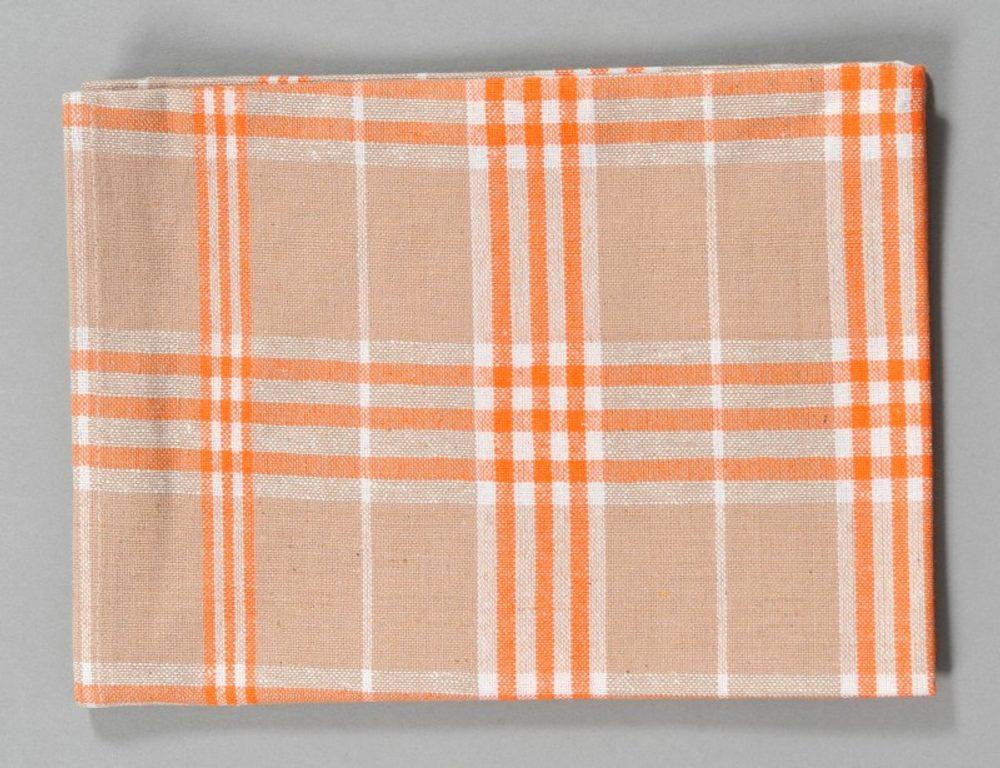 Dobrý Textil Kuchyňská bavlněná utěrka TINA - Oranžová
