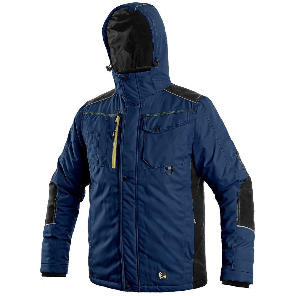 Canis Pánska zimná bunda CXS BALTIMORE - Tmavě modrá / černá | XXXL