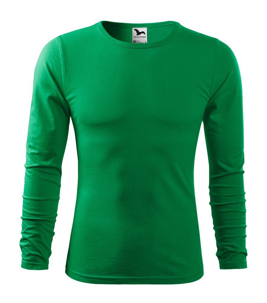 Adler Pánske tričko s dlhým rukávom Fit-T Long Sleeve - Středně zelená | M