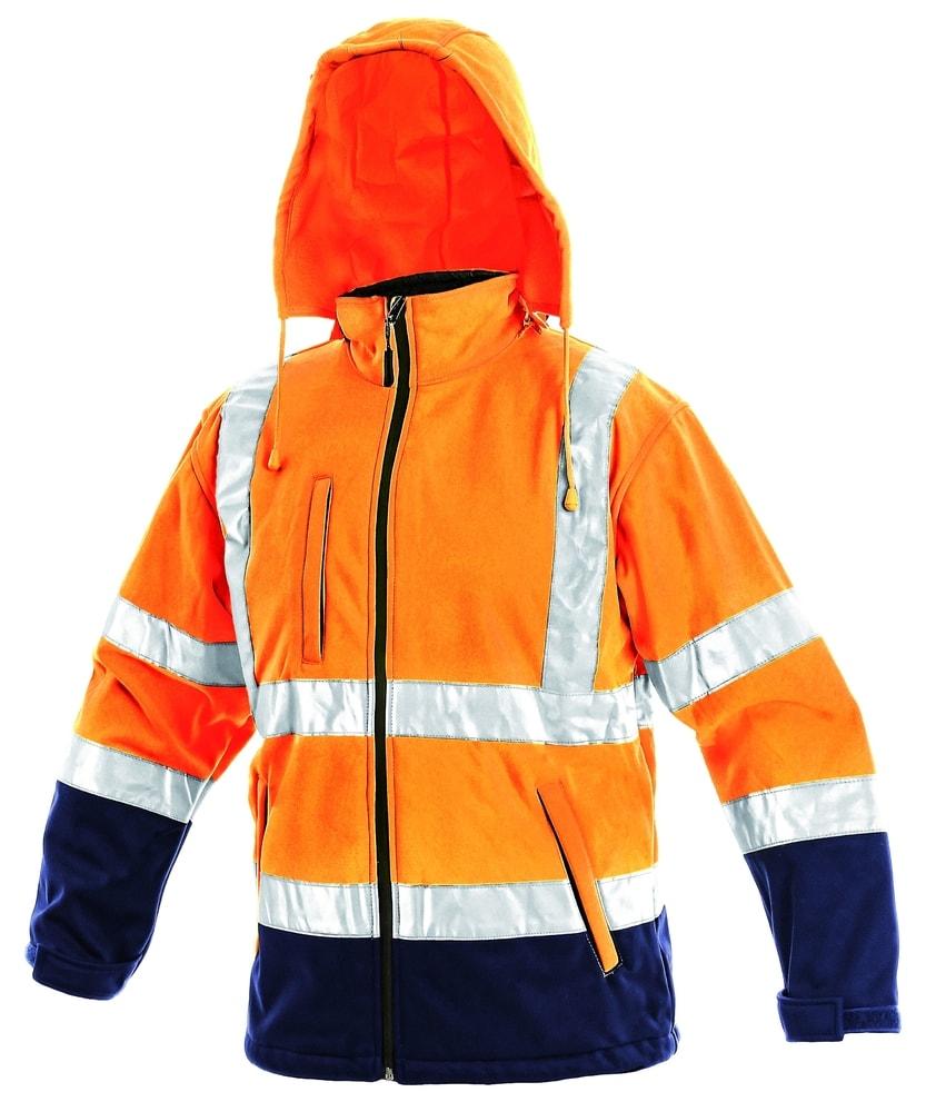 Canis Reflexná softshellová bunda DERBY - Oranžová | XXL