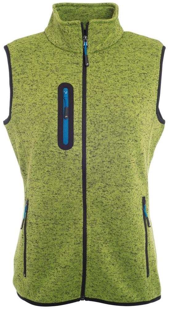 James & Nicholson Dámska vesta z pleteného fleecu JN773 - Kiwi melír / královská modrá | L