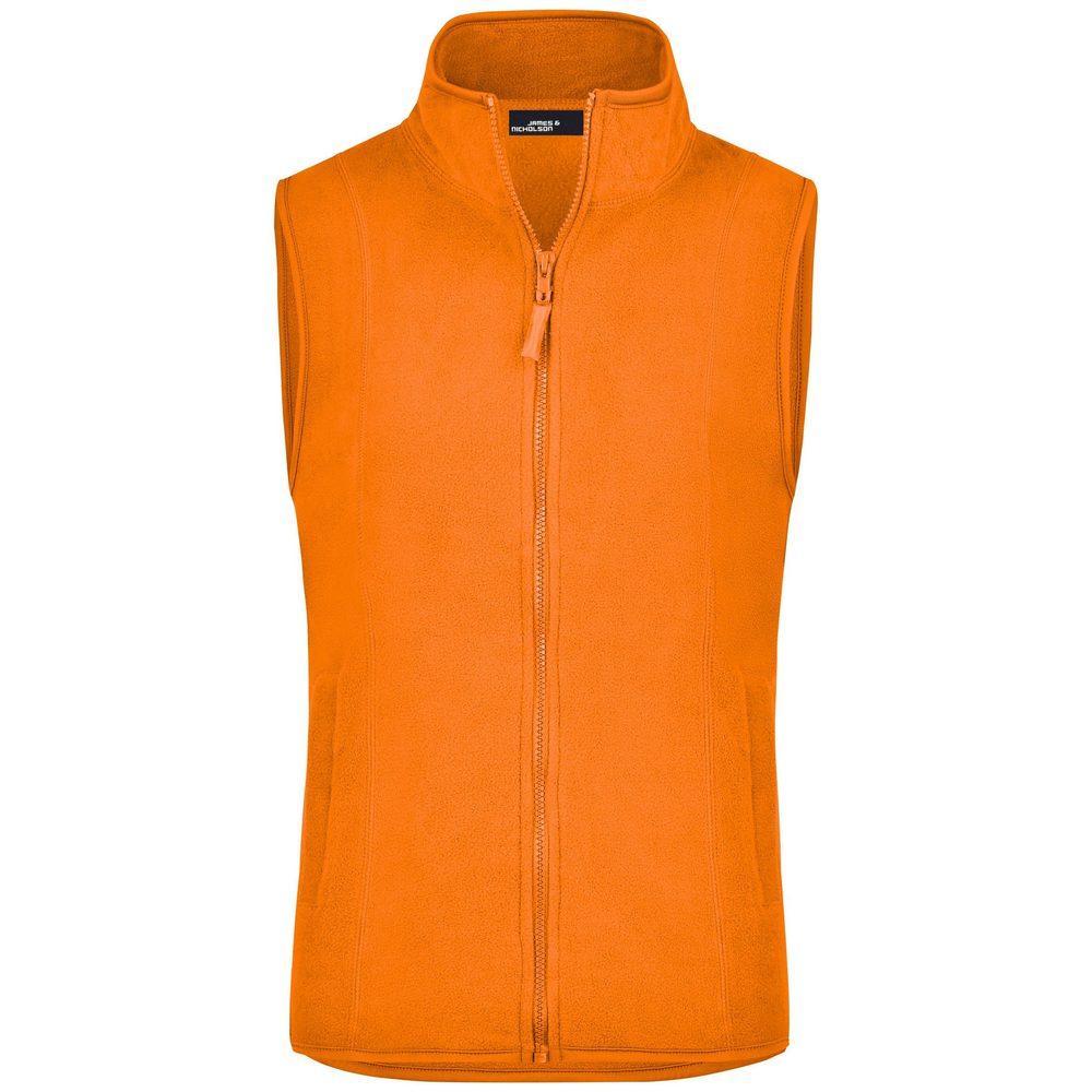James & Nicholson Dámská fleecová vesta JN048 - Oranžová   M