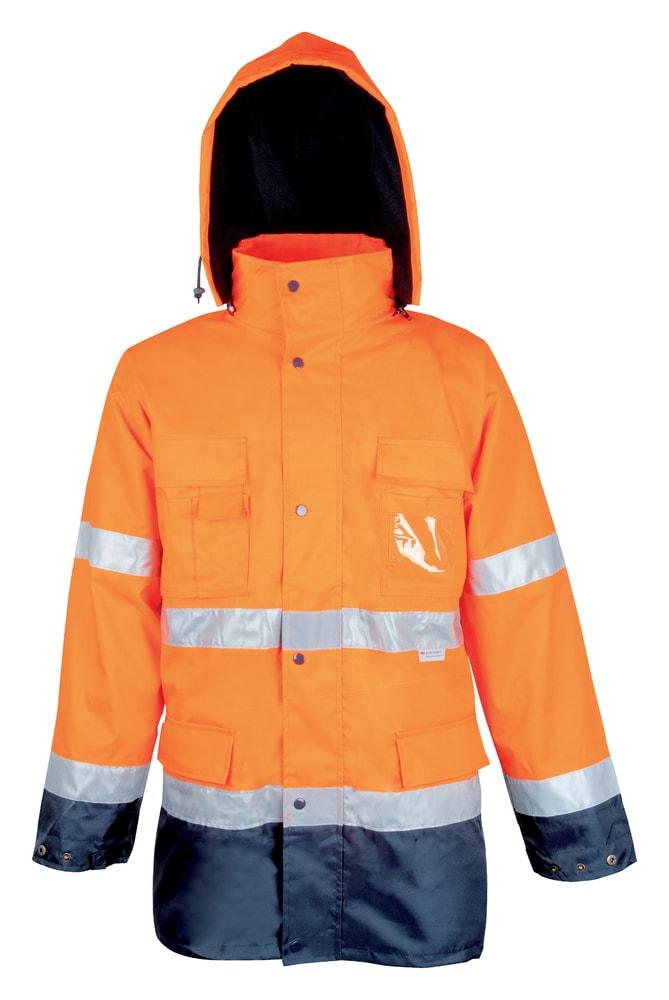 Ardon Reflexná pracovná bunda s kapucňou Maxwell - Oranžová | XXL
