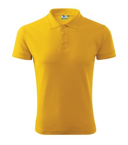 Adler Pánska polokošeľa Pique Polo - Žlutá | XXXL