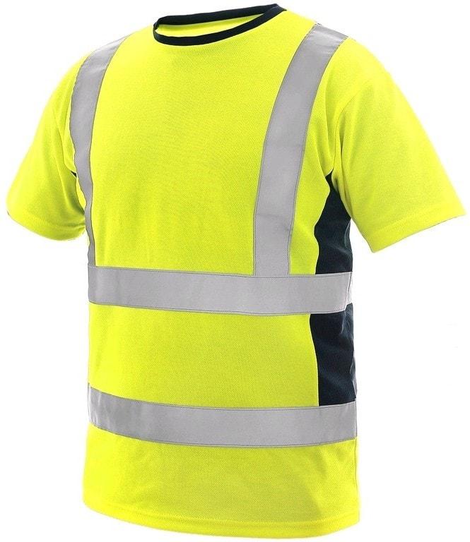 Canis Pánske výstražné tričko EXETER - Žlutá / tmavě modrá | L