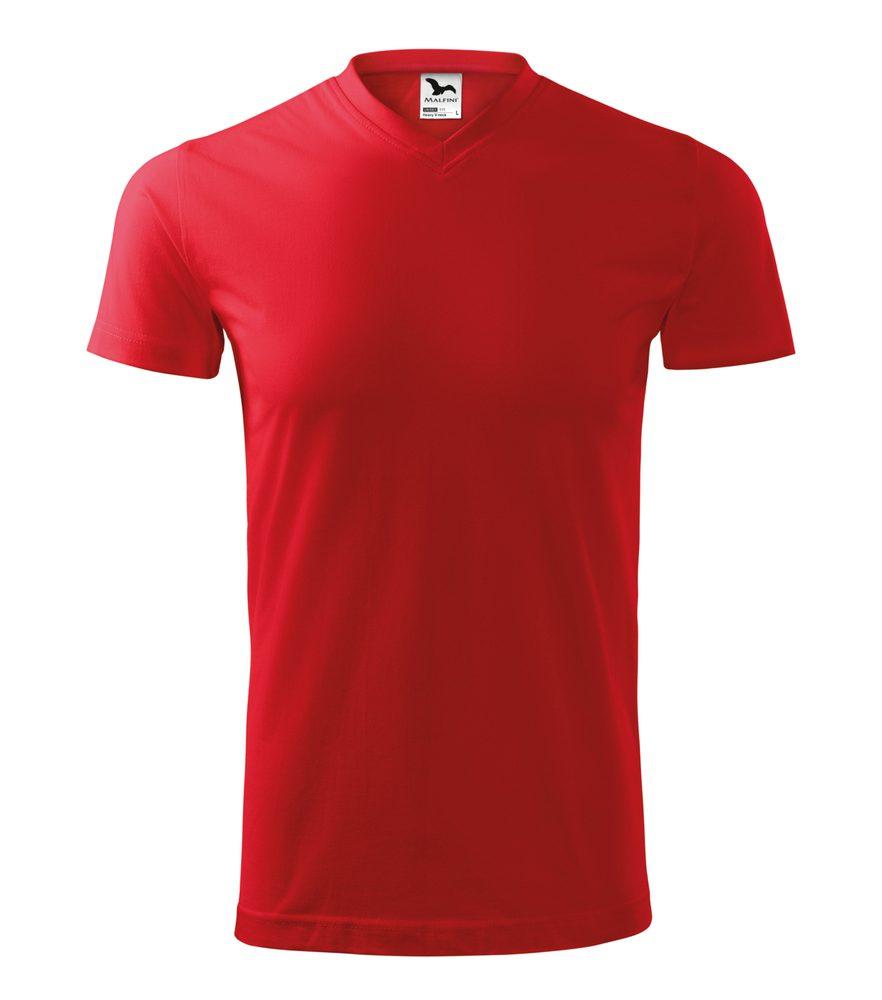 Adler Tričko Heavy V-neck - Červená | XXXL
