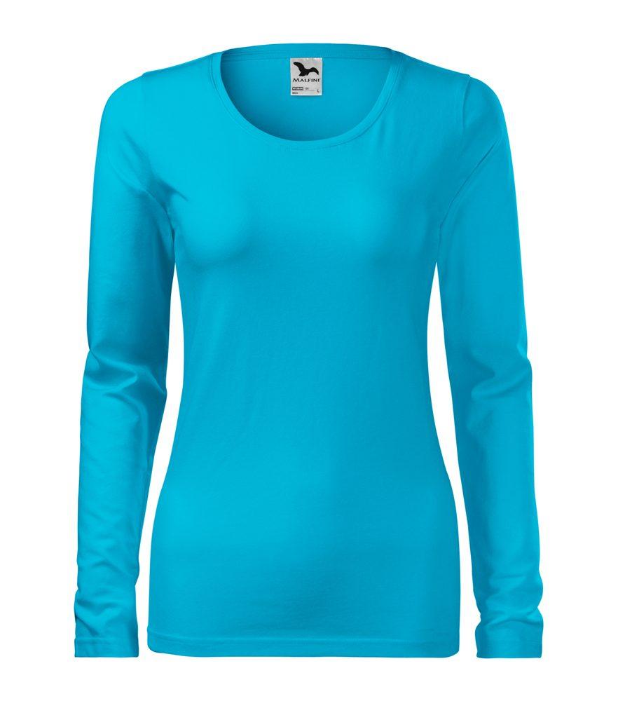 Adler Dámske tričko s dlhým rukávom Slim - Tyrkysová | L