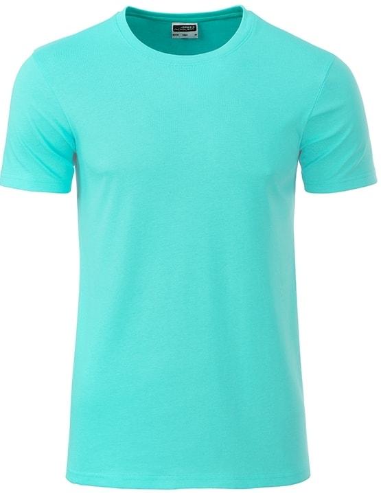James & Nicholson Klasické pánske tričko z biobavlny 8008 - Mátová | XXL