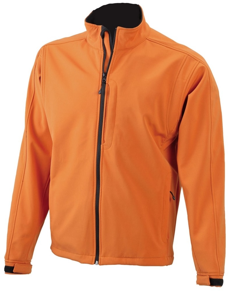 James & Nicholson Pánska softshellová bunda JN135 - Oranžová   XL