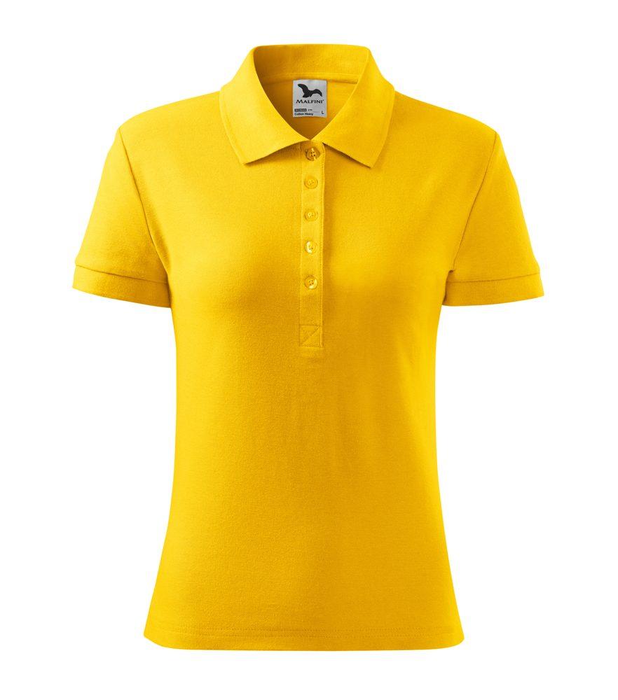 Adler (MALFINI) Dámska polokošeľa Cotton Heavy - Žlutá | M