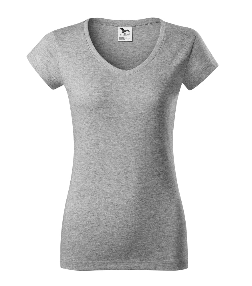 Adler Dámske tričko Fit V-neck - Tmavě šedý melír | XL