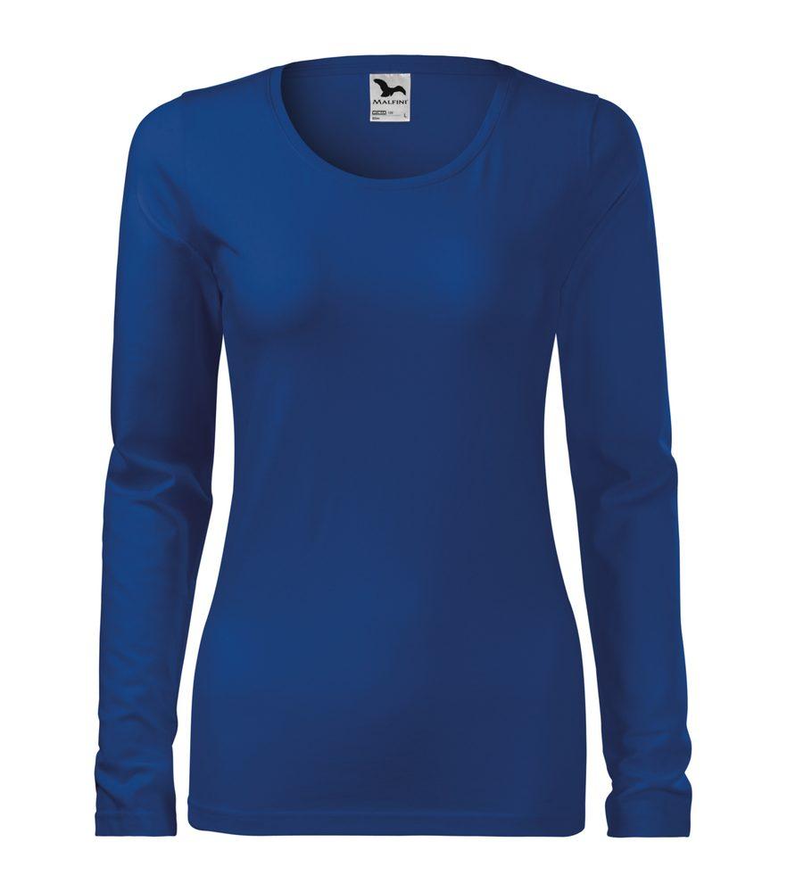 Adler (MALFINI) Dámske tričko s dlhým rukávom Slim - Královská modrá | L