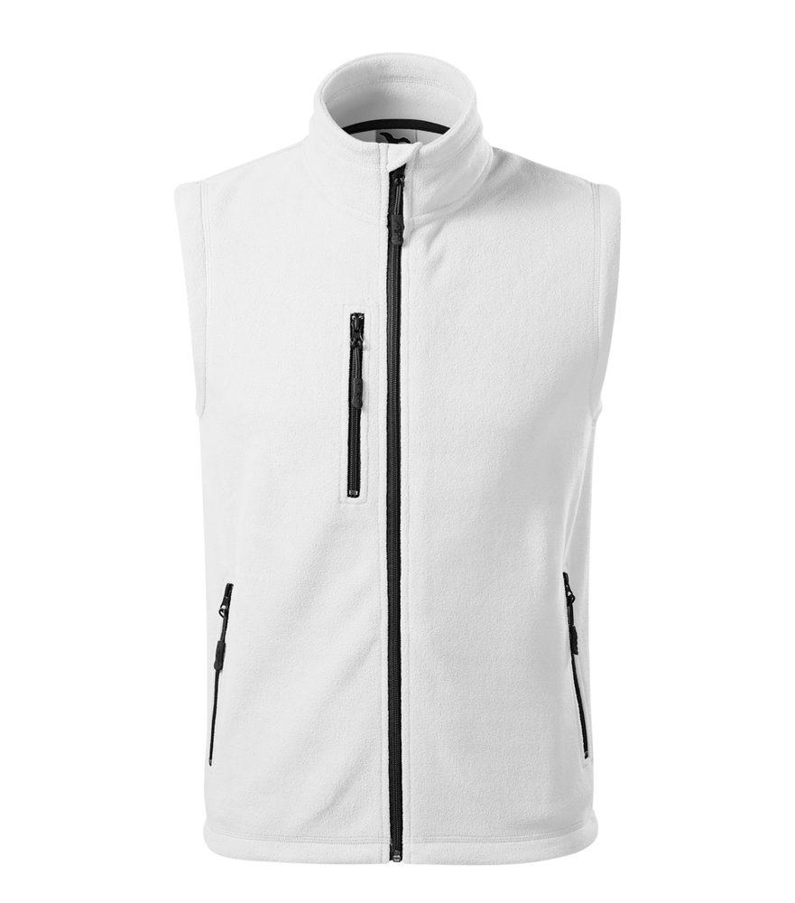 Adler (MALFINI) Fleecová vesta Exit - Bílá | M